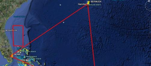 Triangolo delle bermuda from google earth