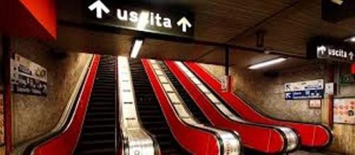 Una delle uscite della metropolitana di Roma