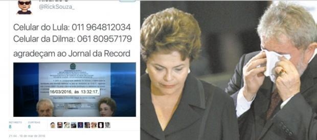 Celulares de Dilma e Lula são divulgados