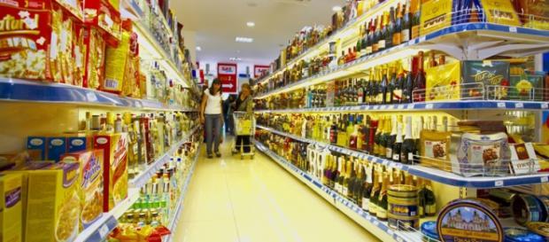 Imagine dintr-un supermarket din Europa