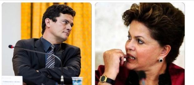 Sérgio Moro e Dilma - Foto/Reprodução