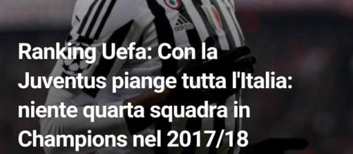 La Juventus fuori dalla Champions League