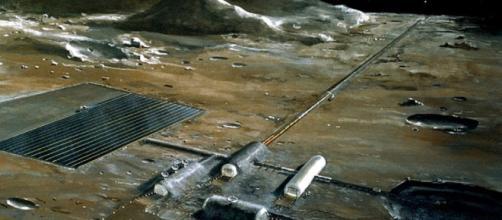 Lunar settlement concept (Credit NASA)