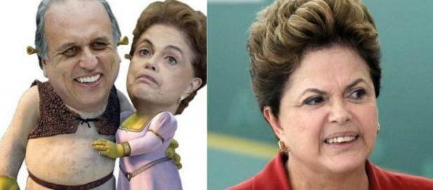 Dilma e Pezão - Foto/Montagem: Facebook