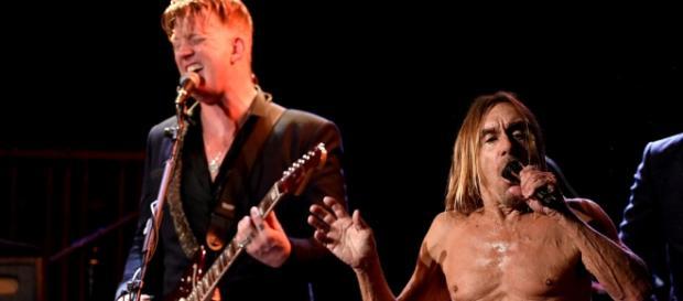 Iggy Pop e Josh Homme em ação, nos Estados Unidos