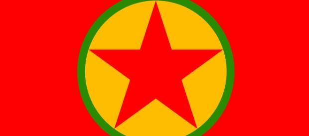 La bandiera del PKK, Partito dei Lavoratori Curdi