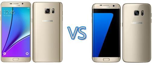 Confronto tra Galaxy S7 Edge e Galaxy Note 5