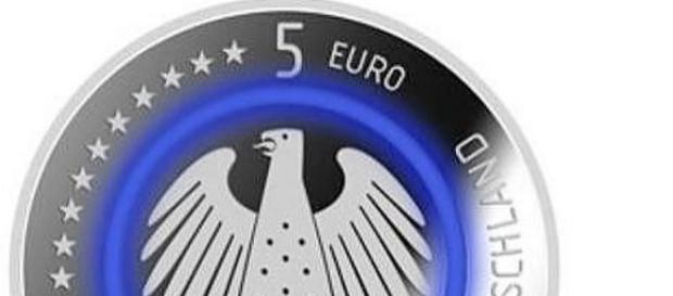 Arriva in Germania la moneta da cinque euro