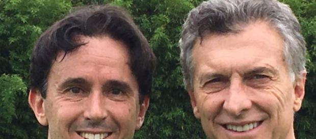 Sebastián Neuspiller y el presidente Macri