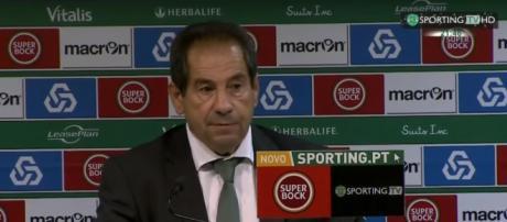 Octávio Machado em declarações na SportingTV