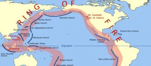 """cintura di fuoco"" dell'Oceano Pacifico"