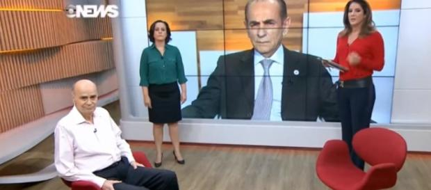 Christiane Pelajo e ministro batem boca