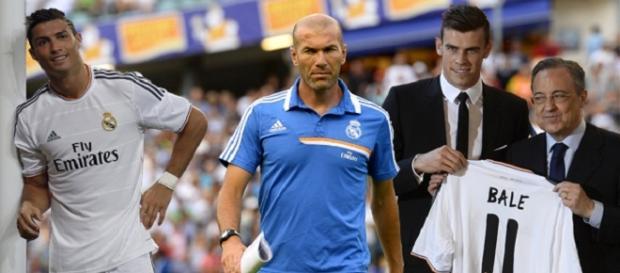 Entrenador, jugadores y presidente del Real Madrid