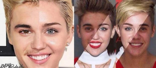 Foto: Justin Bieber é comparado a Miley Cyrus