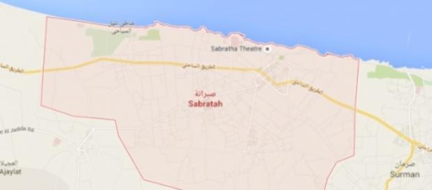 La città di Sabrata sul Mediterraneo