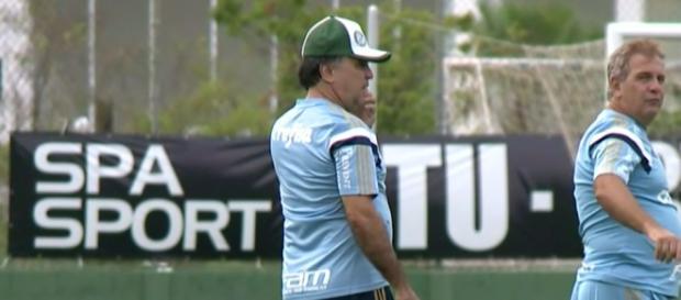 Marcelo Oliveira, técnico do Palmeiras, em treino.