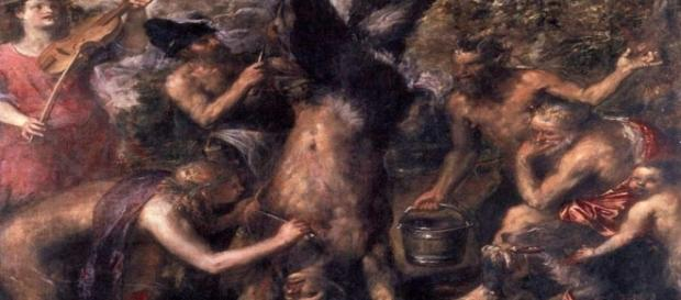 """Titian's """"The Flaying of Marsyas"""" Creative Commons"""