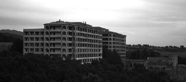 Vistas del Hospital del Tórax, en Terrassa