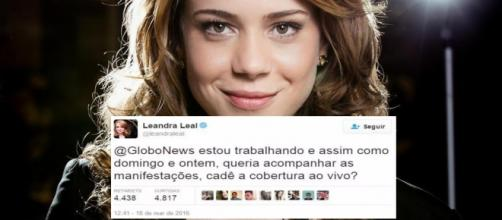 Atriz queria assistir as manifestações Pró-Dilma