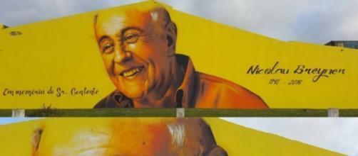 Mural em homenagem a Nicolau Breyner nos Açores.