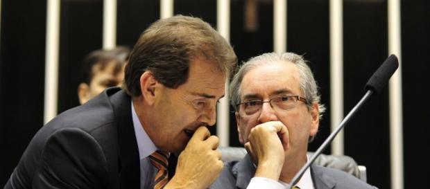 Paulinho da Força e Eduardo Cunha (Foto: Viomundo)
