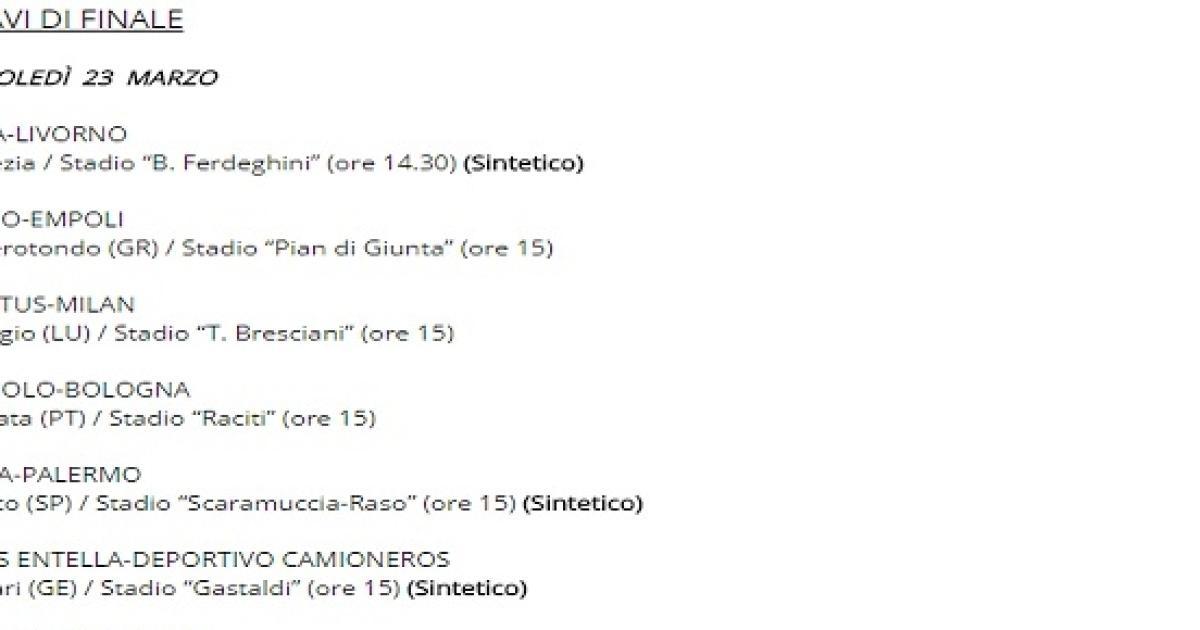 Torneo Di Viareggio Calendario.Torneo Di Viareggio 2016 Calendario A Che Ora E Giorni Gare
