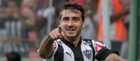 Pratto en uno de sus tantos festejos en Atlético Mineiro