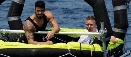 Cristian Gallella e Gianluca, © Isola dei Famosi 2016