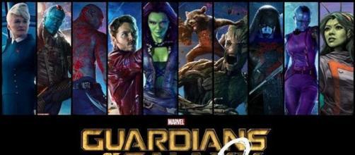 Karen Gillan en el set de 'Guardianes de la Galaxia Volumen 2'