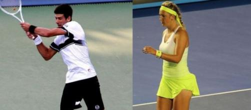 Novak Djokovic and Victoria Azarenka (Wikipedia)