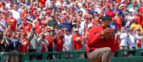 Obama in una partita di baseball