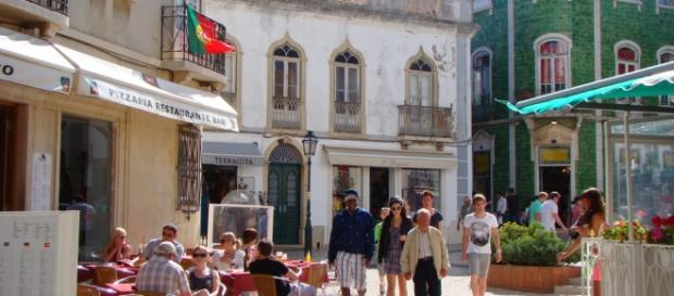 Centro de Lagos, cidade do distrito de Faro, em Portugal