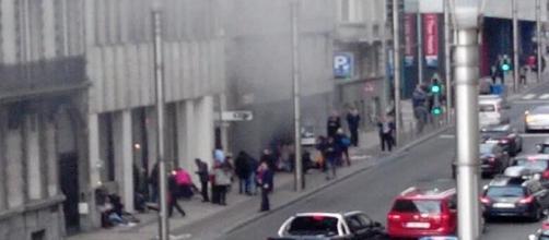 Imagen del aeropuerto de Bruselas después de los atentados. Reuters