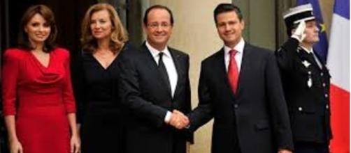 Peña Nieto en Francia con Holande