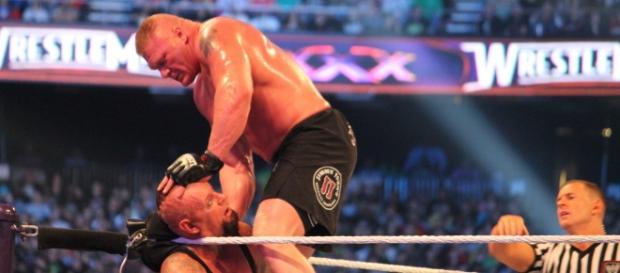 Brock Lesnar vs. Undertaker at WM30 [flickr/ohhsnap_me]