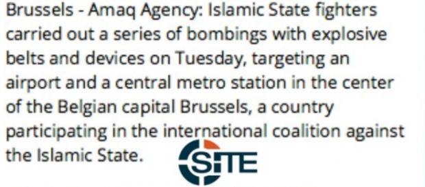 Estado Islámico reivindica los atentados de Bruselas