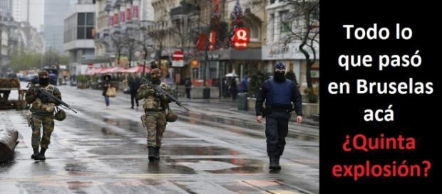 Soldados belgas en alerta roja por los cuatro atentados terroristas de hoy