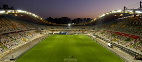Estádio Municipal Dr. Magalhães Pessoa em Leiria, Portugal