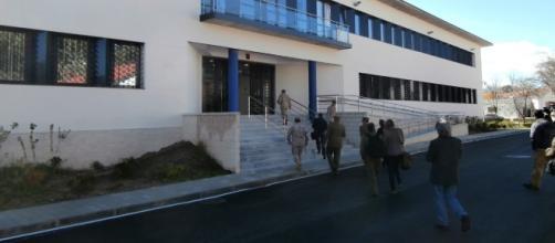 Entrada principal al Mando de Operaciones en Retamares.