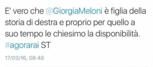 Il tweet di Maurizio Gasparri.