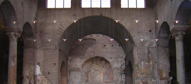 A capela de Santa Maria Antiqua foi soterrada no ano de 847