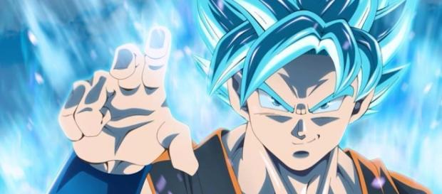 Gokú super saiyajin dios azul.