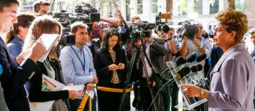 Dilma chamou a imprensa internacional