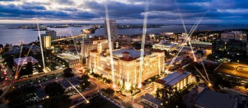 La catedral de Scientology en Clearwater, Florida.