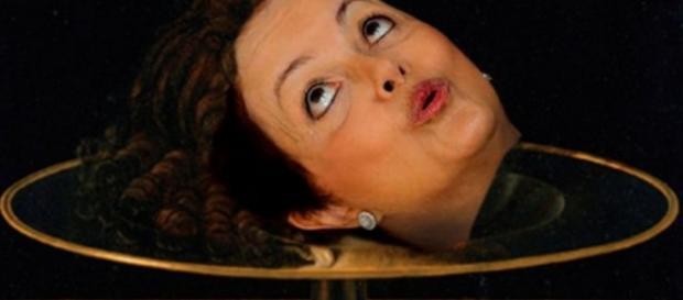 Cabeça de Dilma - Foto/Montagem