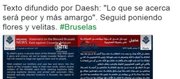Captura de imagen del texto aparecido en la revista del ISIS