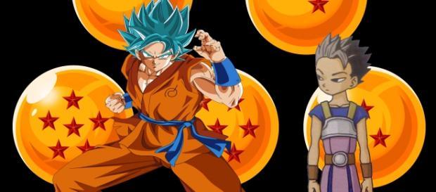 Goku vs Kyabe, lucha de saiyajins