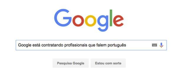 Google está com vagas abertas para profissionais que falam português.