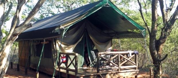 uMkhuze Tented safari Camp. Image J. Flowers