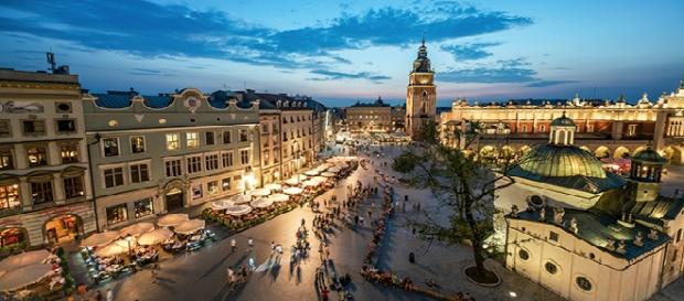 Vista general del centro de Cracovia